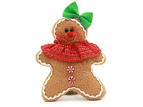 Xinjiener Weihnachten Lebkuchen Ornament Puppe Christmas Eve Ornament (weiblich) für Weihnachten Deko Party Festen