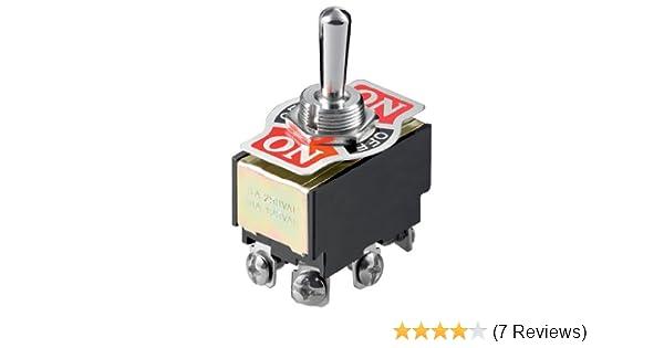 6 Pin mit Schraubanschlüssen Kippschalter 2x EIN 1x AUS