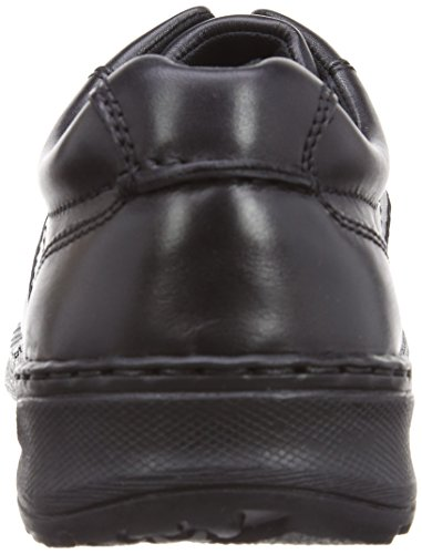 Hush Puppies Grounds Oxford MT Herren Oxford Schuhe Schwarzes Leder