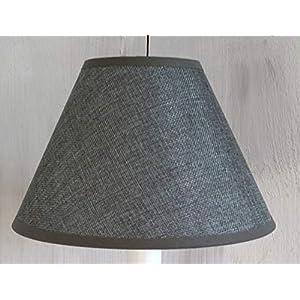 Lampenschirm Ø 22 x 13 cm gross Stoff/in 3 Farben erhältlich / E14 / für Lampen, Leuchten, Tischlampen, Stehlampen (Grau)