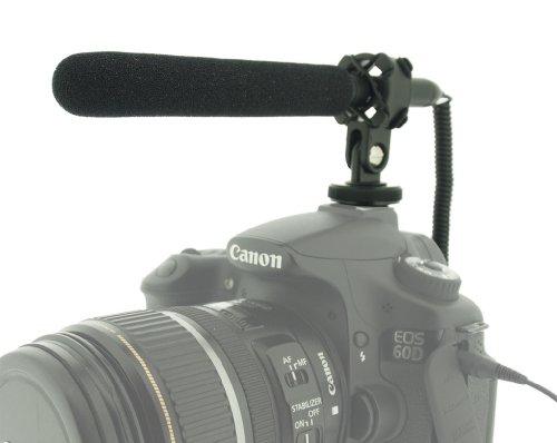 Bewegung Freien Licht Im Empfindlich (Polaroid Pro Video Ultra Dünnes & Licht Kondensator Richtmikrofon mit Schwinghalterung für digitale Spiegelreflexkameras und Camcorder)