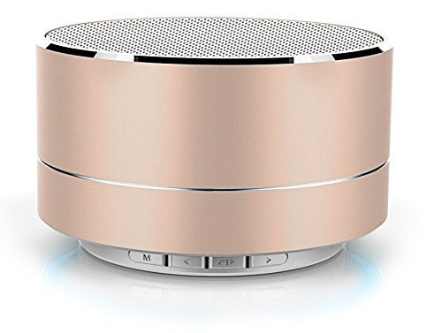 EASYSHOPEE 3W Wireless Super Bass Mini Metal Aluminium Alloy Portable Bluetooth Speaker with Mic (Gold)(Silver)