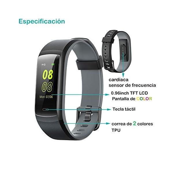 willful Pulsera de Actividad, Pulsera Inteligente con Pulsómetro Reloj Inteligente Impermeable IP68 Pulsera para Deporte Pulsera Actividad Inteligente para Mujer Hombre Niño para Android iOS Teléfono 3