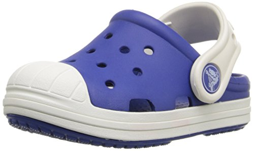 Crocs Bump it Unisex-Kinder Clogs,Cerulean Blau/Oyster - Blau27-28 EU ( 10 Child UK )