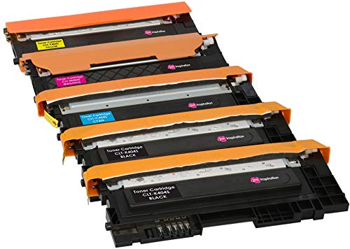 5er Set Premium Toner kompatibel für Samsung Xpress SL-C430 C430W SL-C480 C480FN C480FW C480W CLT-404S | Schwarz 1.500 Seiten & Color je 1.000 Seiten -