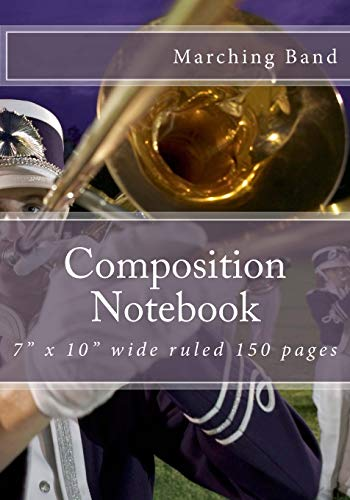 Composition Notebook: Marching Band Instruments Themed Composition Notebook 7