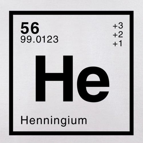 Henning Periodensystem - Herren T-Shirt - 13 Farben Weiß