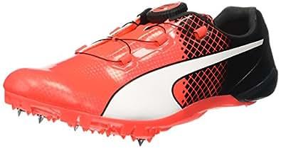 Puma Men's Bolt Evospeed Disc Tricks Black and Red Blast Running Shoes - 9 UK/India (43 EU)