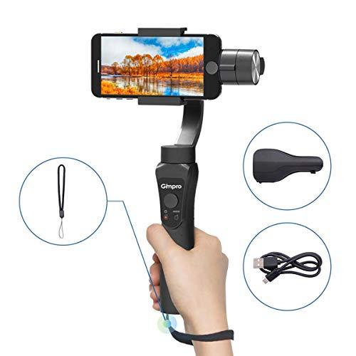 Gimpro Gimbal Stabilizzatore Smartphone, Gimbal 3 Assi Gimbal Smartphone <6 '' 230g, Stabilizzatore iPhone Stabilizzatore Gimbal 3 Assi, Gimbal iPhone, Gimbal GoPro, Stabilizzatore per Smartphone