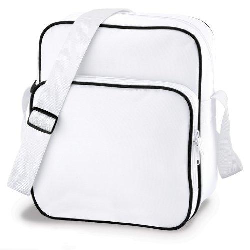 Bag Base, Borsa a spalla donna multicolore White/Black White/Black