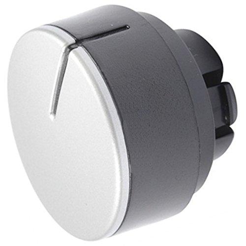 spares2go Einstellknopf Schalter Zifferblatt für hotpoint-ariston Waschmaschine/Waschmaschine Trockner (Silber/Schwarz) - Waschmaschine Timer Zifferblatt