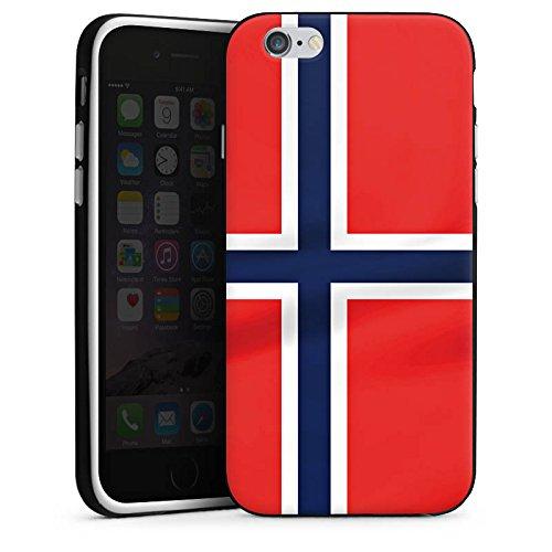 Apple iPhone SE Silikon Hülle Case Schutzhülle Norwegen Norway Flagge Silikon Case schwarz / weiß