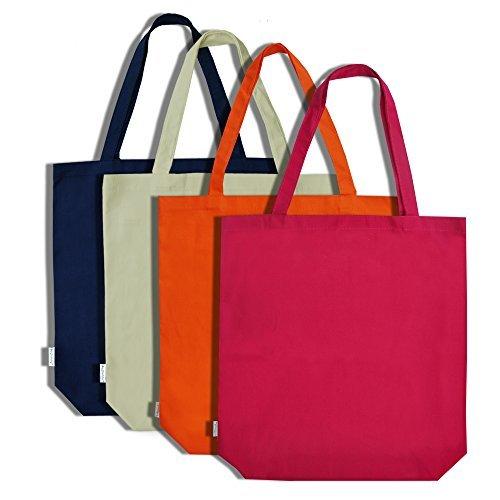 Augbunny 100% lona de algodón bolsa de la compra bolsa de compra 4-unidades