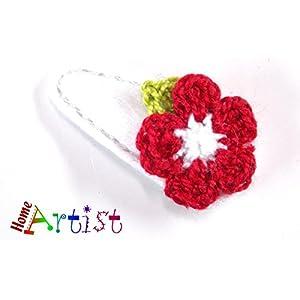 Baby Spange Blume gehäkelt - freie Farbwahl