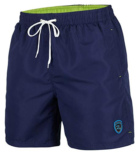 Zagano Adam Lipski Herren Badeshort, 5106, Long Version Navy Blue, Gr. XL