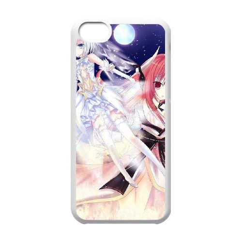 Date A Live coque iPhone 5C Housse Blanc téléphone portable couverture de cas coque EBDXJKNBO14437