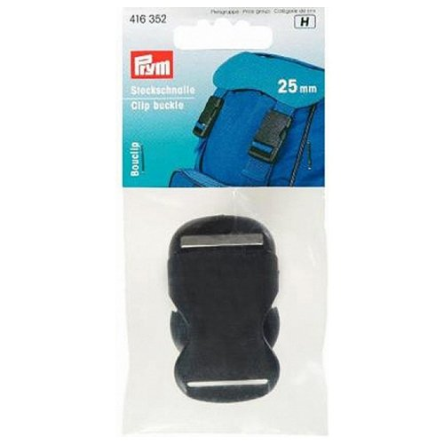Prim - Set of clip buckles (25 mm, plastic), black