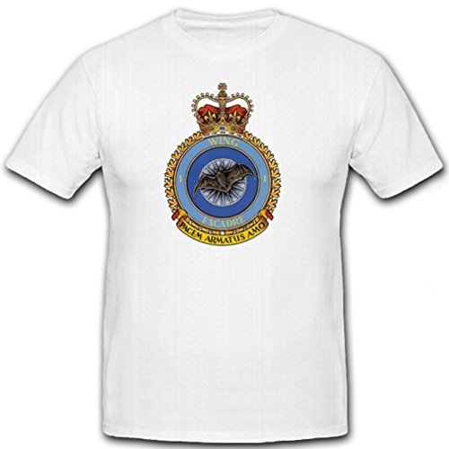 1 Wing Kingston Canadian Airforce - T Shirt Herren, weiß #6886 (Wings Air T-shirt Force)