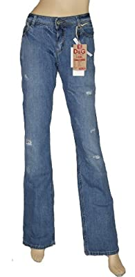 Dolce & Gabbana Womans Denim Jeans Low waist Bootcut Size30 /UK 16