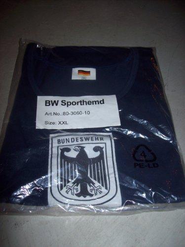 BW - Sporthemd - Bundeswehr - Adler auf der Brust - blau - XXL -