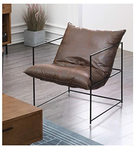 TAO Einfaches faules Sofa Bequemes einzelnes Sofa Braunes Schlafzimmer Wohnzimmer Büro Moderner einfacher schmiedeeiserner Stuhl Tatami 68 × 68cm -