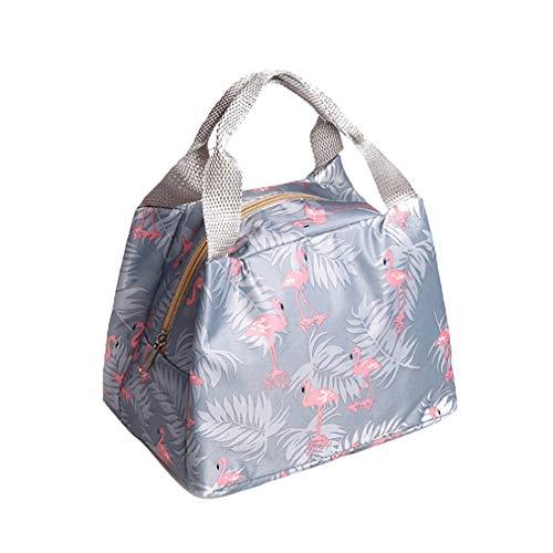 gzzebo süße Lunchtasche mit Flamingo Kaktus Blumen Lebensmittel Obst Aufbewahrung Lunchboxen -