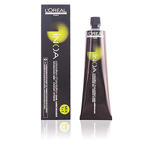 L\'Oréal Professionnel Inoa 6,1 Dunkelblond Asch, permanente Coloration, Ammoniakfrei, Geruchlos, 60 ml