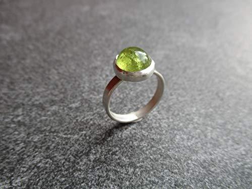 Silberring mit grünem Granat (Grüner Ring Granat)
