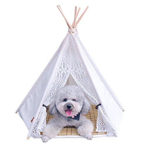 Casa Gato Tienda Perro Lavable Cama Gato de Lona(Tela de Algodon 100%) (S)