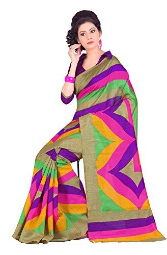 Samskruti Sarees Raw Silk Saree (Spas-26 _Multi-Coloured)