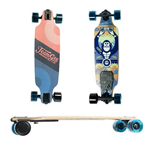 Elektrisches Skateboard Mit Fernbedienung, Elektrisches Longboard Mit Multi-Layer-Ahornfaser, Einzelantriebs-Skateboard Für Outdoor-Sportarten, Max Travel 18 Km 30 Km/H, Höchstgeschwindigkeit
