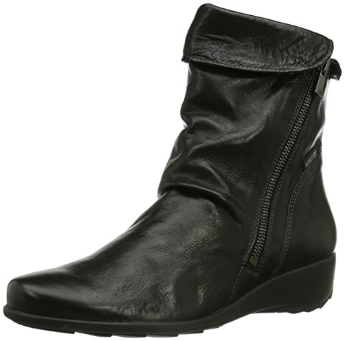 Mephisto SEDDY TEXAS 7900  , Damen Kurzschaft Stiefel, Schwarz (Black), 41 (Boot Ankle Fold Over)