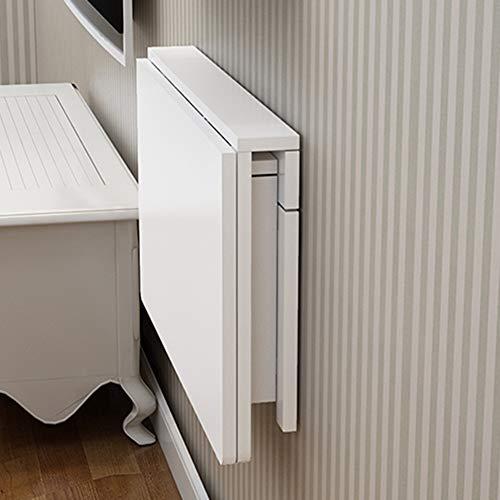 Scrivania pieghevole da parete tavolo pieghevole tavolo da parete pieghevole piccolo, tavolo da pranzo in legno naturale spesso, scrivania bianca per studio resistente per camera da letto di studio, l