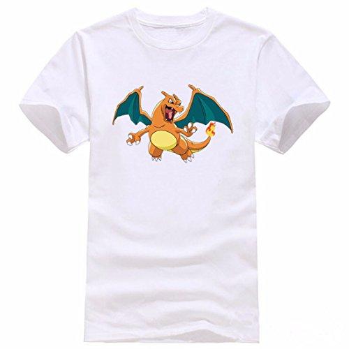 Men's Pokemon Printed Cotton Short Sleeve Tee Shirt 8