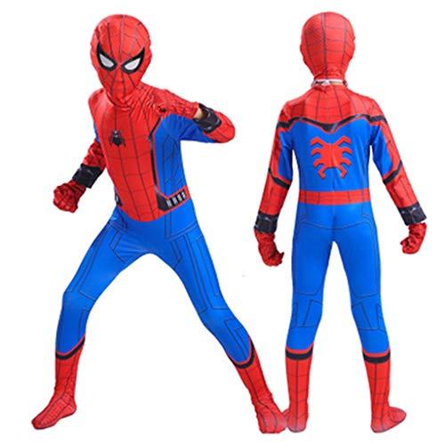 HYYSH Halloween Kinderkleidung Spider-Man Kleidung Kinder COS Kleidung Spiderman Film Cartoon Anime Dress Up Cosplay Kostüm Außerordentliche Held (Fünf Größen) (größe : 120)