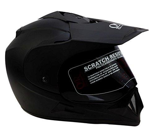 O2 Riderswear Designer Moto Helmet(Matee Black)