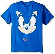 Sega Boys' Sonic The Hedgehog Big Face Short Sleeve T-Shirt
