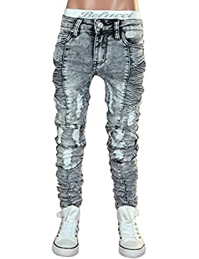 JT-002 SQUARED & CUBED Jeans Hose Junge Kinder light grey 122-170