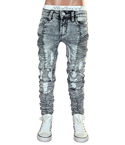 JT-002 SQUARED & CUBED Jeans Hose Junge Kinder light grey 122-170 (14 (ca.158-164))
