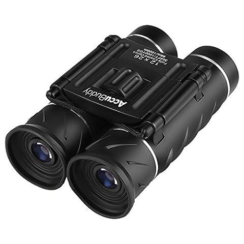 AccuBuddy Fernglas - Leichtes Mini Binocular Mit 12-fach Vergrößerung und 26mm Objektiv Für Gestochen Scharfe