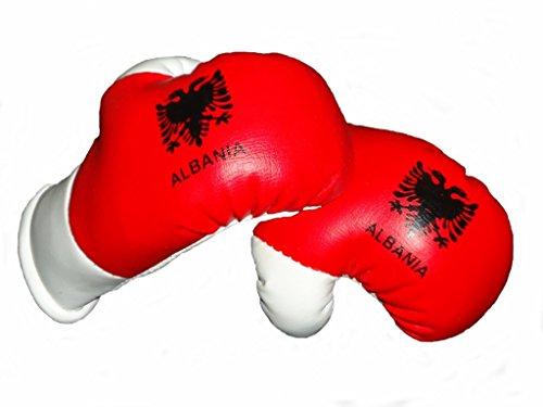Mini Boxhandschuhe ALBANIEN, 1 Paar (2 Stück) Miniboxhandschuhe z. B. für Auto-Innenspiegel