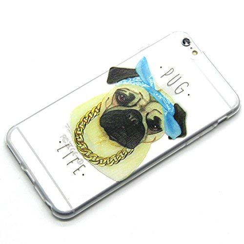 iPhone 6S Silikonhülle - Felfy Ultra Slim Gel Dünnen Weiche Druck Ölmalerei Leben der Bäume Stil TPU Back Case Cover Zurück Tasche Etui für Apple iPhone 6S 6 4.7 Zoll + 1x Green Stylus + 1x Screen Pro Gelb Hund