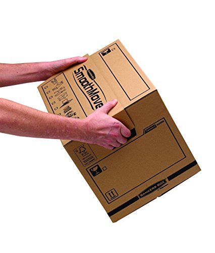 Bankers Box Umzugsbox SmoothMove klein (aus 100% recyceltem Karton, 10er Packung) braun - 10