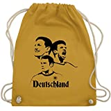 Fußball-Europameisterschaft 2020 - Deutsche Nationalspieler - EM 2016 Frankreich - Unisize - Senfgelb - WM110 - Turnbeutel & Gym Bag