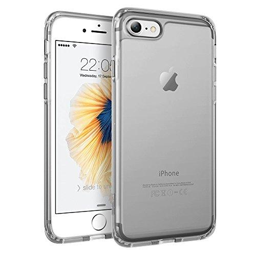 iPhone 7 Hülle (4,7 Zoll), ESR® Hybrid Hülle, Weiche TPU Rahmen mit Hart PC Zurück iPhone 7 Bumper Case Schutzhülle für iPhone 7 (Schwarz) Schwarz