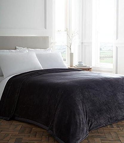 Blanket / Plush Blanket / Throw / Plush Throw / Grey Blanket (King 254 x 254 cm)