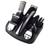 6 In 1 Wiederaufladbare Haarschneider Titan Haarschneider Elektrorasierer Bartschneider Männer Styling Werkzeuge Rasur Maschine