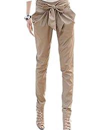 FINEJO Fashion Women OL Office Bowknot Harem Pants Casual Pencil Pants