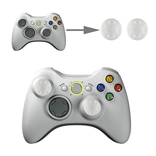 Controller Aufsätze Thumb Grip Control Stick Set Kappe Silikon für Sony PS4, PS4 Pro, PS3, PS2, Xbox One, Xbox One X, Xbox 360, Nintendo Switch, Nintendo Wii U in Weiß von wortek