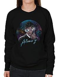Cloud City 7 Doctor Who David Tennant Allons Y Retro Wave Women's Sweatshirt